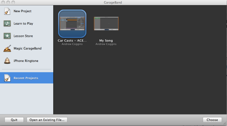 Making a Revision CarCast