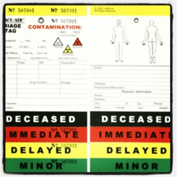 Disaster Triage Tag