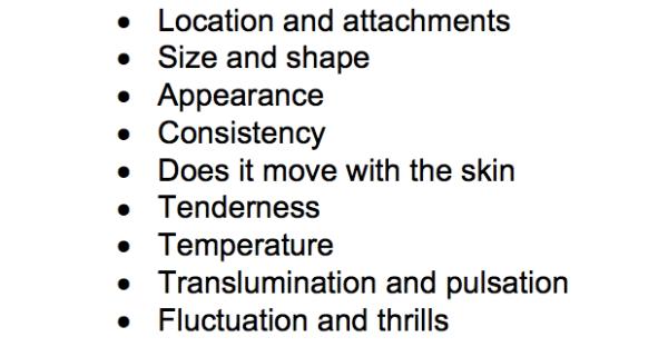 Lump Checklist
