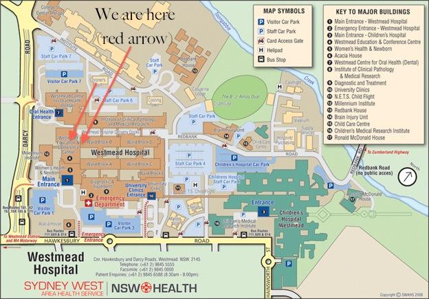 EMIG Map Westmead Hospital
