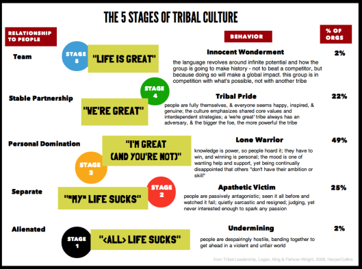 5 Levels of Team - Tribal Leadership
