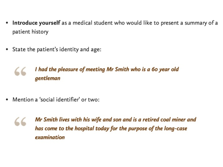 presenting (a patient case) like a pro – emergencypedia, Presentation templates